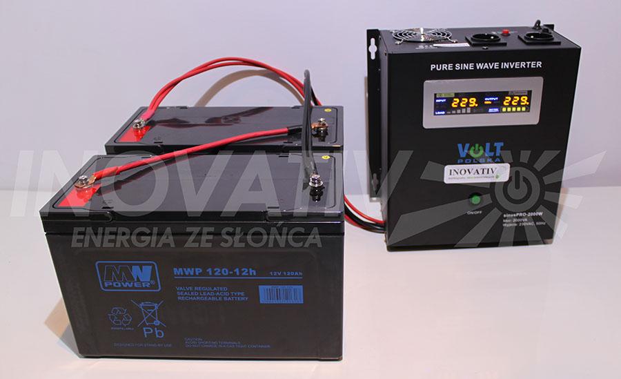 Zestaw MULTIMAX - przetwornica SinusPro 2000W + dwa akumulatory o pojemności 120 Ah